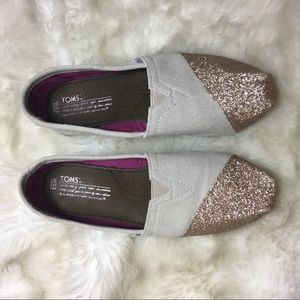 Toms glitter shoes sz 7.5 women's